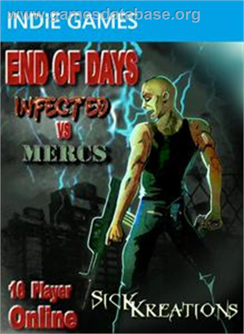 End Of Days: Infected vs Mercs - Microsoft Xbox Live Arcade - Artwork - Box