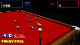 In game image of 27 Ball Funky Pool on the Microsoft Xbox Live Arcade.