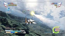 In game image of After Burner Climax on the Microsoft Xbox Live Arcade.