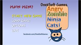 In game image of Angry Zombie Ninja Cats on the Microsoft Xbox Live Arcade.