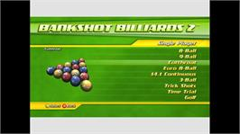 In game image of Bankshot Billiards 2 on the Microsoft Xbox Live Arcade.