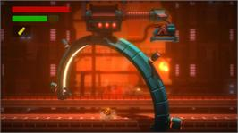 In game image of BionicCommando:Rearmed on the Microsoft Xbox Live Arcade.