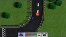 In game image of Burning Rubber on the Microsoft Xbox Live Arcade.