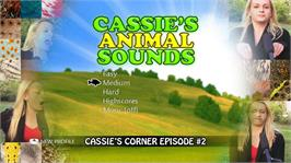 In game image of Cassie's Animal Sounds on the Microsoft Xbox Live Arcade.