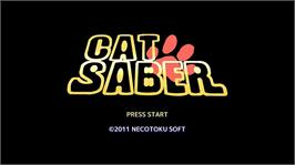 In game image of CatSaber on the Microsoft Xbox Live Arcade.