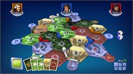 In game image of Catan on the Microsoft Xbox Live Arcade.