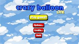 In game image of Crazy Balloon Lite on the Microsoft Xbox Live Arcade.