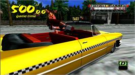 In game image of Crazy Taxi on the Microsoft Xbox Live Arcade.