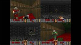 In game image of DOOM on the Microsoft Xbox Live Arcade.