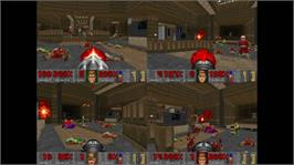 In game image of DOOM II on the Microsoft Xbox Live Arcade.