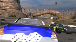 In game image of Days of Thunder: Arcade on the Microsoft Xbox Live Arcade.