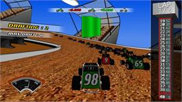 In game image of Dirt Track Racer on the Microsoft Xbox Live Arcade.