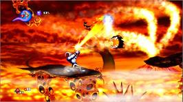 In game image of Earthworm Jim HD on the Microsoft Xbox Live Arcade.