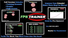 In game image of FPS Trainer on the Microsoft Xbox Live Arcade.