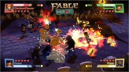 In game image of Fable Heroes on the Microsoft Xbox Live Arcade.