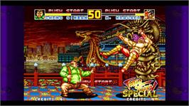 In game image of Fatal Fury Special on the Microsoft Xbox Live Arcade.