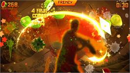 In game image of Fruit Ninja Kinect on the Microsoft Xbox Live Arcade.