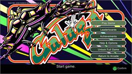 In game image of GALAGA on the Microsoft Xbox Live Arcade.