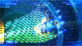 In game image of Galaga Legions DX on the Microsoft Xbox Live Arcade.