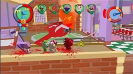 In game image of Happy Tree Friends on the Microsoft Xbox Live Arcade.