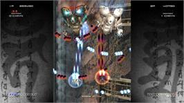 In game image of Ikaruga on the Microsoft Xbox Live Arcade.