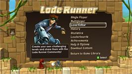 In game image of Lode Runner on the Microsoft Xbox Live Arcade.