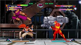 In game image of Marvel vs. Capcom 2 on the Microsoft Xbox Live Arcade.
