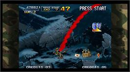 In game image of Metal Slug 3 on the Microsoft Xbox Live Arcade.