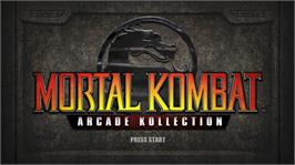 In game image of Mortal Kombat Arcade on the Microsoft Xbox Live Arcade.