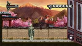 In game image of Ninja Exorcist Episode 1 on the Microsoft Xbox Live Arcade.