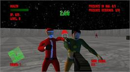 In game image of North Pole Zombie Massacre on the Microsoft Xbox Live Arcade.