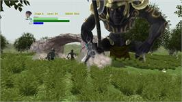 In game image of Ogre's Phantasm Sword Quest on the Microsoft Xbox Live Arcade.