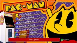 In game image of PAC-MAN on the Microsoft Xbox Live Arcade.