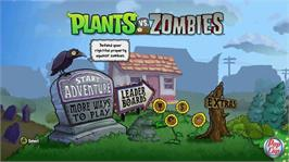 In game image of Plants vs. Zombies on the Microsoft Xbox Live Arcade.