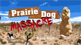 In game image of Prairie Dog Massacre on the Microsoft Xbox Live Arcade.