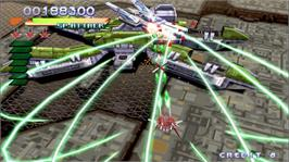 In game image of RAYSTORM HD on the Microsoft Xbox Live Arcade.