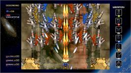 In game image of Radiant Silvergun on the Microsoft Xbox Live Arcade.