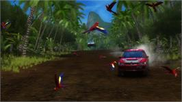 In game image of SEGA Rally Online Arcade on the Microsoft Xbox Live Arcade.