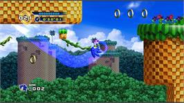 In game image of SONIC THE HEDGEHOG 4 Episode I on the Microsoft Xbox Live Arcade.