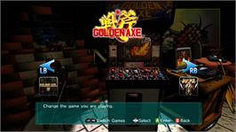 In game image of Sega Vintage Collection: Golden Axe on the Microsoft Xbox Live Arcade.