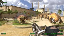 In game image of Serious Sam HD: TFE on the Microsoft Xbox Live Arcade.