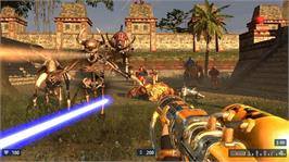 In game image of Serious Sam HD: TSE on the Microsoft Xbox Live Arcade.
