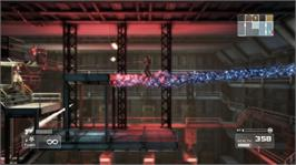 In game image of Shadow Complex on the Microsoft Xbox Live Arcade.