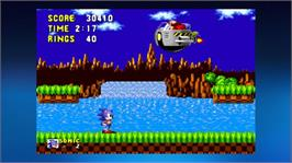 In game image of Sonic The Hedgehog on the Microsoft Xbox Live Arcade.