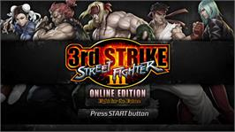 In game image of Street Fighter III: Online Edition on the Microsoft Xbox Live Arcade.