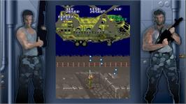 In game image of Super Contra on the Microsoft Xbox Live Arcade.