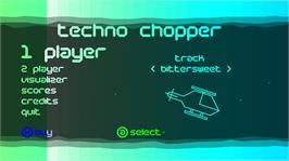 In game image of Techno Chopper on the Microsoft Xbox Live Arcade.
