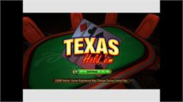 In game image of Texas Hold'em on the Microsoft Xbox Live Arcade.