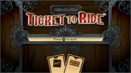 In game image of Ticket to Ride on the Microsoft Xbox Live Arcade.