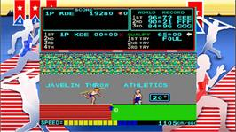 In game image of Track and Field on the Microsoft Xbox Live Arcade.